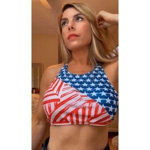 🇺🇸 Flag Bikini Sports Bra Top